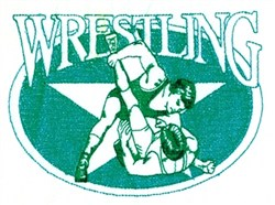 Wrestling Oval embroidery design