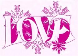 Winter Love embroidery design