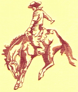 Bronc Rider embroidery design