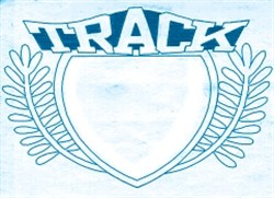 Track Crest embroidery design