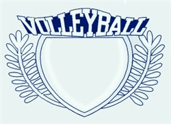 Volleyball Crest embroidery design