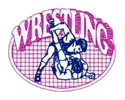 Wrestling Quilt embroidery design