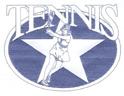 Ladies Tennis Star embroidery design
