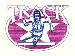 Male Track Star embroidery design