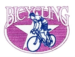 Bicycling Star embroidery design