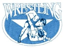 Wrestling Star embroidery design