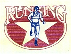Male Running Star embroidery design