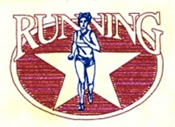 Female Running Star embroidery design