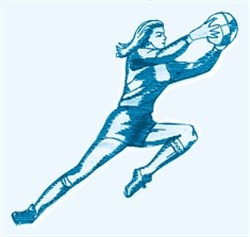 Lady Soccer Player embroidery design