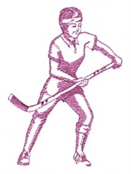 Field Hockey embroidery design