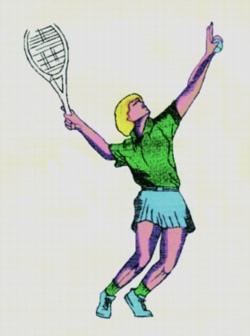 Ladies Tennis embroidery design