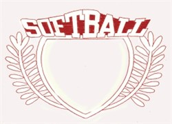 Softball Crest embroidery design