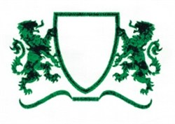 Medium Lion Crest embroidery design