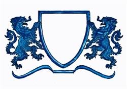 Large Lion Crest embroidery design