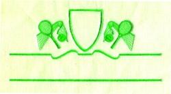 Tennis Crest embroidery design