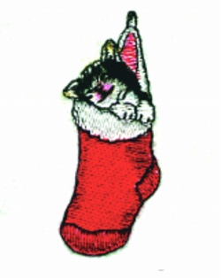Christmas Kitten embroidery design