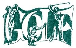 Golf Trio embroidery design