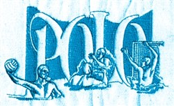Water Polo Trio embroidery design