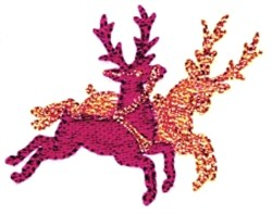 Reindeers embroidery design