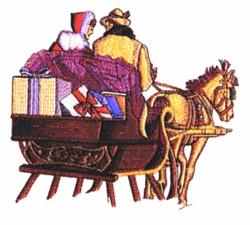 Horse & Sleigh embroidery design