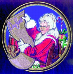 Mrs. Claus embroidery design