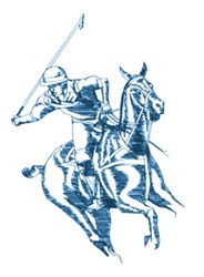 Polo Rider embroidery design