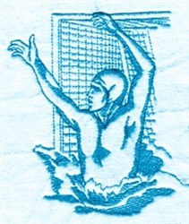 Water Polo embroidery design