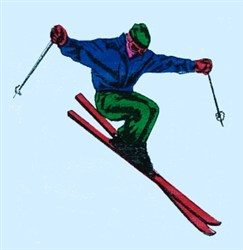 Jumping Skier embroidery design