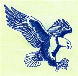 Bluework Eagle embroidery design