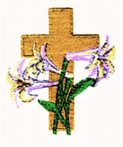 Easter Lilly embroidery design