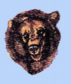 Grizzley Bear embroidery design