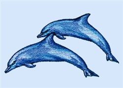 Breaching Dolphins embroidery design