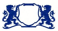 Lion Crest embroidery design