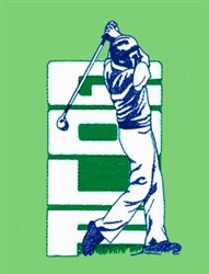 Golf Drive embroidery design