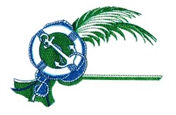 Nautical Palm embroidery design