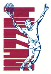 Tennis Swing embroidery design