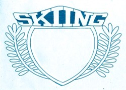 Skiing Crest embroidery design