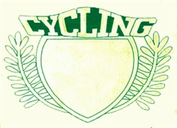 Cycling Crest embroidery design