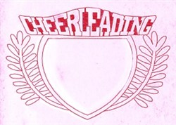 Cheerleading Crest embroidery design