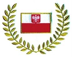 Polish Flag Wreath embroidery design