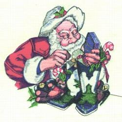Cowboy Santa embroidery design
