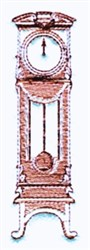 Grandfather Clock embroidery design