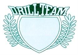 Drill Team Crest embroidery design