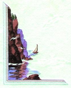 Sea Scape embroidery design