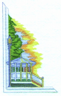 Country Gazebo embroidery design