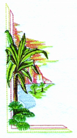 Tropical Palms embroidery design
