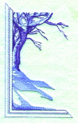 High Country Snow embroidery design
