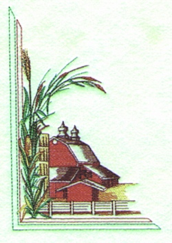American Farm embroidery design