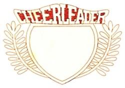 Cheerleader Crest embroidery design