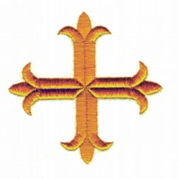 Four Inch Cross embroidery design